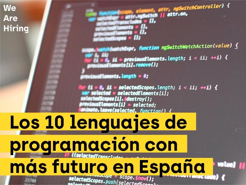 Los lenguajes de programación más usados en España